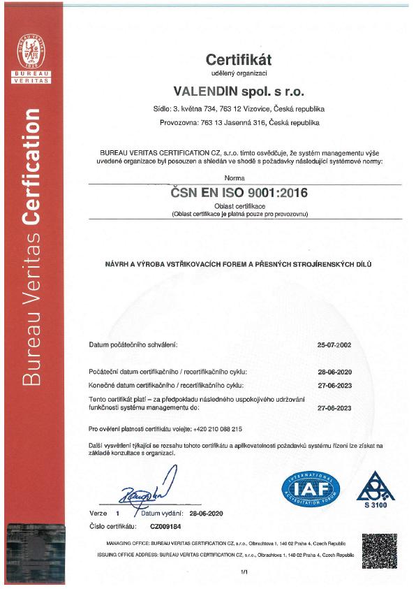 certifikat kvality